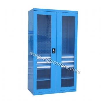 Glass Door Garage Cabinet